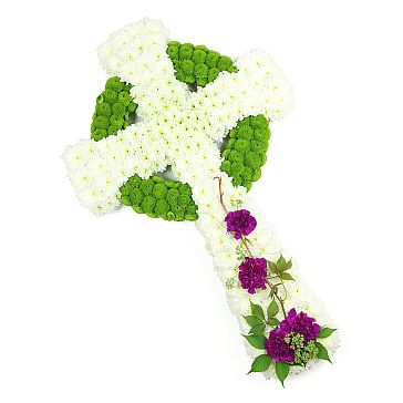 WHITE CELTIC CROSS TRIBUTE