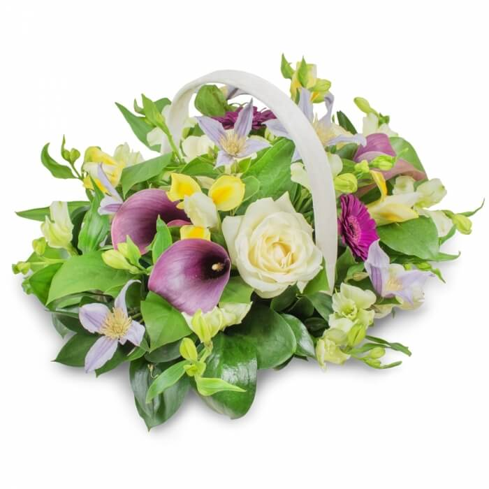 Funeral Basket Flowers