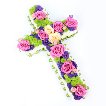 Flower Cross Arrangements for Funeral