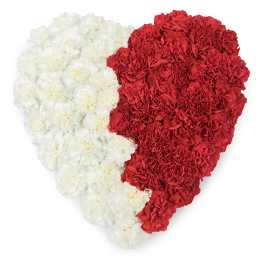 Funeral Heart Flower Arrangements